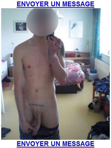 Une bite tatouée dispo pour un plan cul rapide